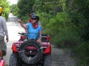 Marylu aboard her ATV