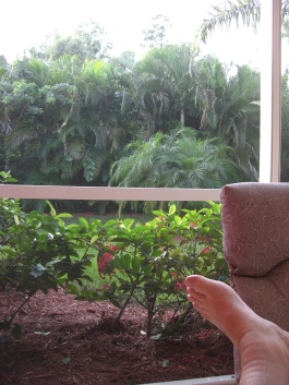 Relaxing on the Lanai