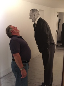 Alan Enjoying a Visit with LBJ